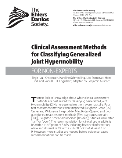 Clinical Assessment Methods for Classifying GJH, PDF